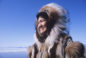 Smiling eskimo in the Arctic.