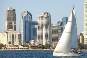 San Diego Bay is a short walk from some residential hotels in downtown San Diego.