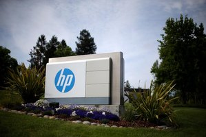 Large Hewlett-Packard sign