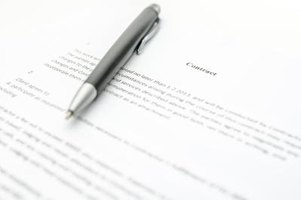 Contract with a pen