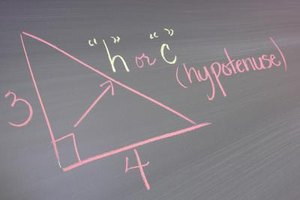 Use the Pythagorean theorem to find the hypotenuse in trigonometric math based projects.