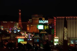 The glitz and fantasy-like atmosphere of Las Vegas includes indoor waterfalls, a special statement in this desert city.