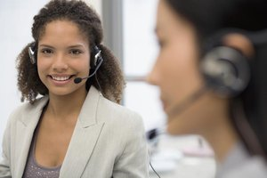 A smiling call center employee.