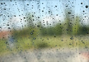 Water sealant on glass windows doesn't last forever.