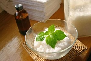 Patchouli leaves and essential oil add fragrance to bath treatments.