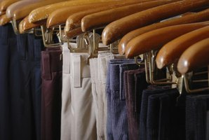 High quality hangers help keep dress pants smooth and wrinkle free.