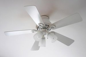 White Hampton Bay ceiling fan