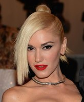 Gwen Stefani wears a top knot at the 2013 Costume Institute Gala in New York.