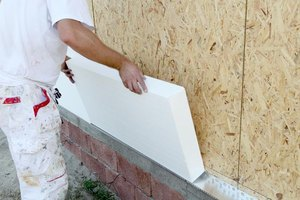 Extruded polystyrene panels can be employed behind a wall, under the roof, or beneath flooring.