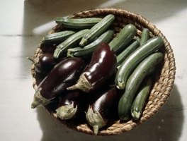Pair summer squash and eggplants for a light dish.