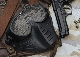 Wear an airsoft mask to prevent eye injuries and chipped teeth.