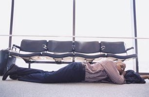 Retire to the airport lounge to avoid an uncomfortable scene on the airport floor.