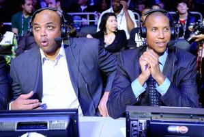 Many NBA analysts are former players, such as Charles Barkley (left) and Reggie Miller.