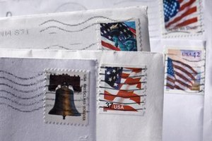 Envelopes with U.S. stamps.