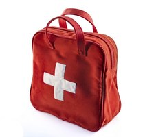Place first-aid supplies in a well-marked bag, so you can find it quickly.