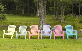 Baking soda or a power wash treatment help restore the chair's original color.