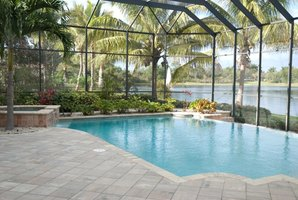 Pool screens keep out insects and plant debris.