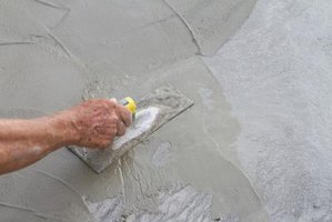 Completely cover your skin before working with concrete.