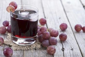 Serve the grape juice chilled.