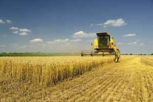 Harvesters are an example of machines that eliminate some of the disadvantages of human handling in agriculture.