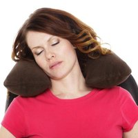 If you make your own neck pillow you can adjust the size and shape to fit you perfectly.