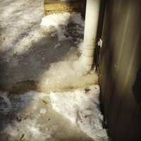 Exposed pipes are most vulnerable to freezing.