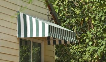 Regularly clean your home's awnings to prolong their life.