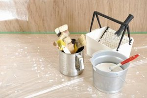 Painting can be part of a home repair person's job.