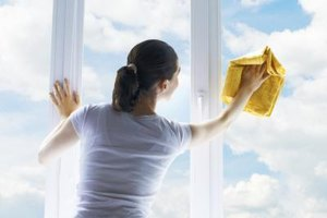 Rubbing alcohol and water make your windows sparkle.