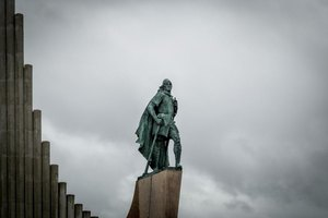 Statues of Leif Erikson depict his heroic character.