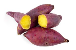 Sweet potatoes provide carbohydrates and nutrients such as calcium and vitamins A and C.