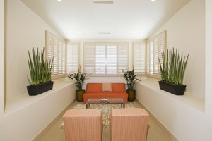 Plantation shutters don't require any other window treatment.