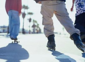 Rollerblading is used as summer training by skaters.