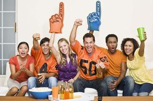 Rent parties don't have to concentrate on just the rent. Centering them around game day can provide a good draw.