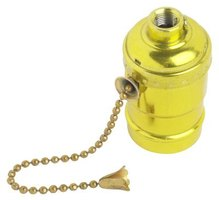 For pull-chain sockets, detact the tip and feed the chain through the hole in the lamp.