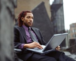 Businessmen can keep up with work while traveling thanks to new technologies.
