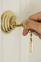 Some deadbolts open with a key while others use only a thumb-turn.