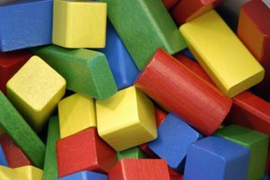 Close-up of building blocks.