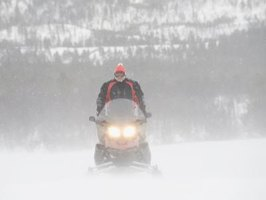 The Polaris 440 IQR snowmobile has plenty of power but is an agile handler as well.