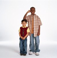 From age 2 to the onset of adolescence, height increases slowly and steadily.