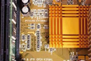 The motherboard sends data across the circuit board through traces.