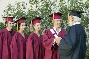 College chancellors preside over graduation ceremonies.