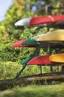 A simple kayak rack will store your kayaks neatly.