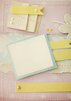 Cover and card stock provide sturdy texture to scrapbook pages.