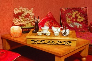 The first requirement for a kotatsu is a low, Japanese-style table.