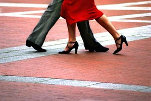 The basic tango step begins with the walk sequence.
