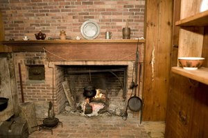 Brick was the fireproof construction material of choice for an 18th-century hearth.