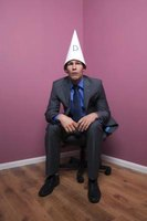 A dunce cap is simply a large paper cone.