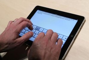 The iPad's on-screen keyboard can be replaced by an external one.