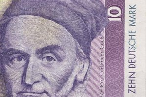 German mathematician Carl Gauss, featured on the 10-mark note, derived the expression for the sum of the first N consecutive integers as a schoolboy.